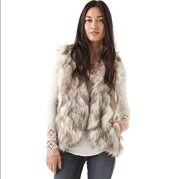 Free People Jackets & Blazers - Free People call of the wild faux fur vest xs